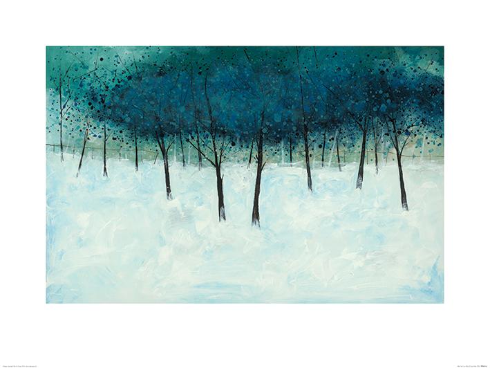 Stuart Roy (Blue Trees on White) Art Print