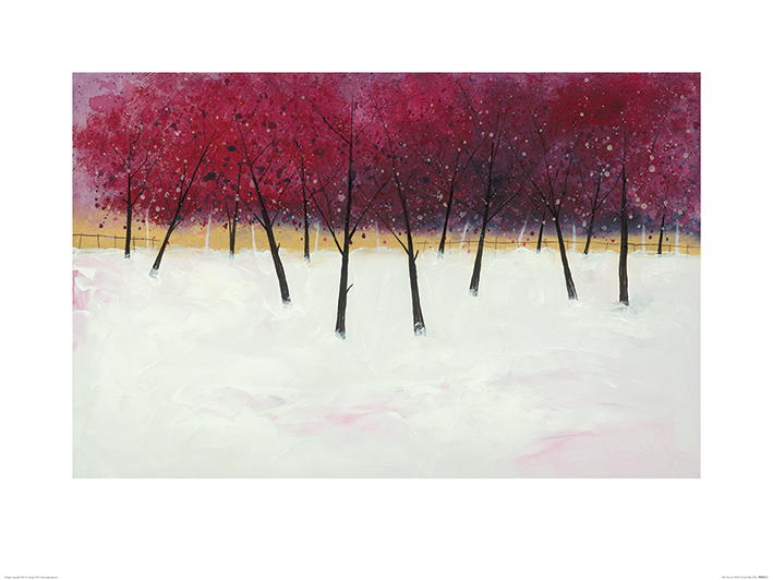 Stuart Roy (Red Trees on White) Art Prints