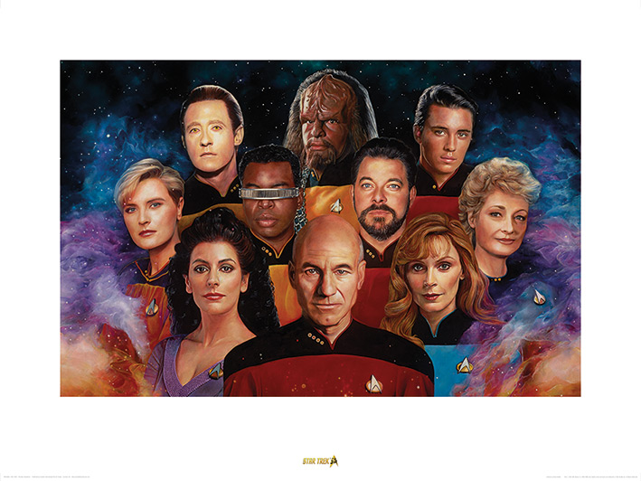 Star Trek (The Next Generation) 50th Anniversary Art Prints