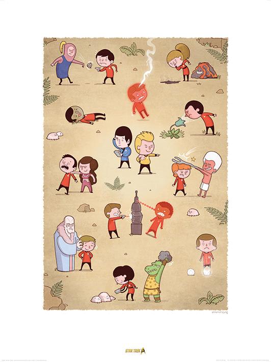 Star Trek (Redshirts) 50th Anniversary Art Print