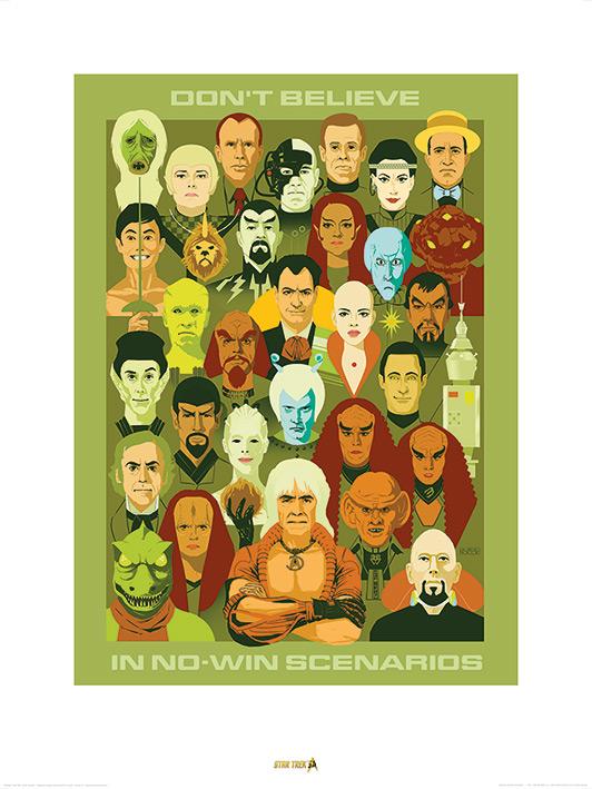 Star Trek (No Win Scenarios) 50th Anniversary Art Prints