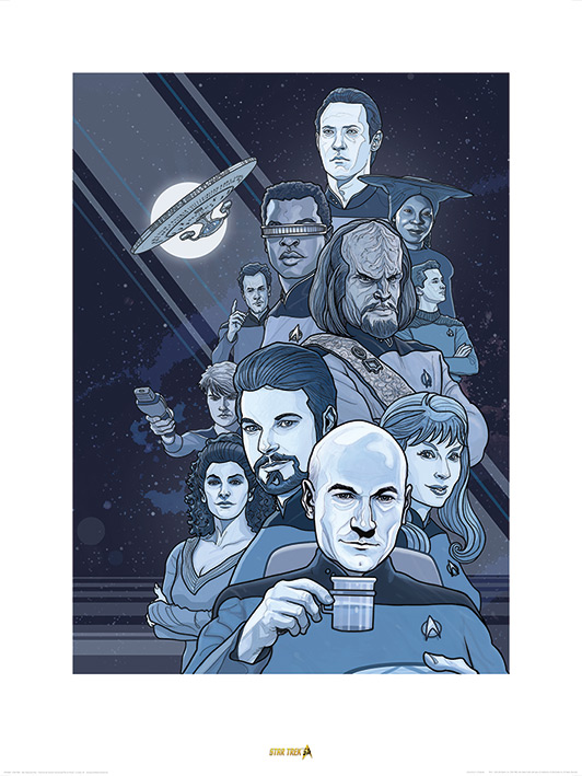 Star Trek (Next Generation Blue) 50th Anniversary Art Prints