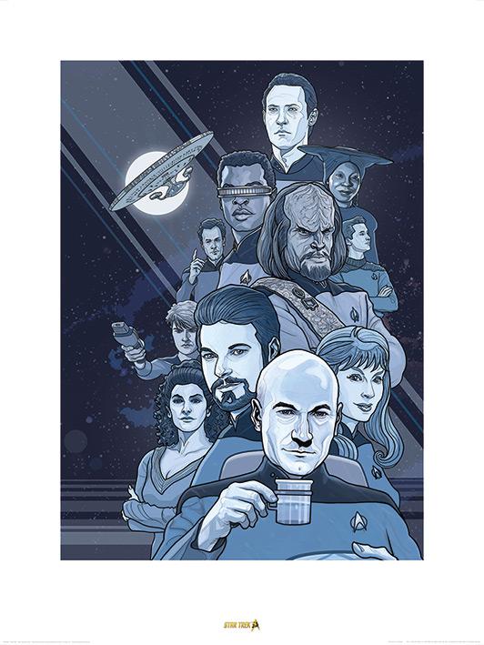 Star Trek (Next Generation Blue) 50th Anniversary Art Print