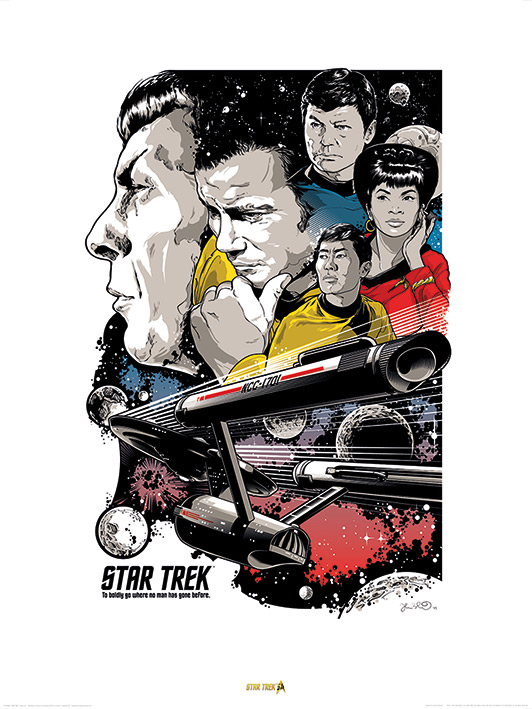 Star Trek (Boldly Go) - 50th Anniversary Art Print