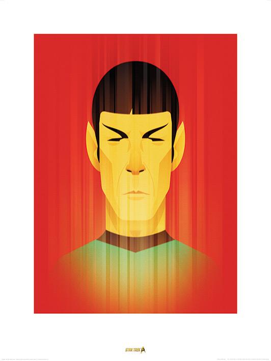 Star Trek (Beaming Spock) 50th Anniversary Art Prints