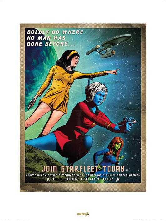 Star Trek (Join Starfleet) 50th Anniversary Art Print