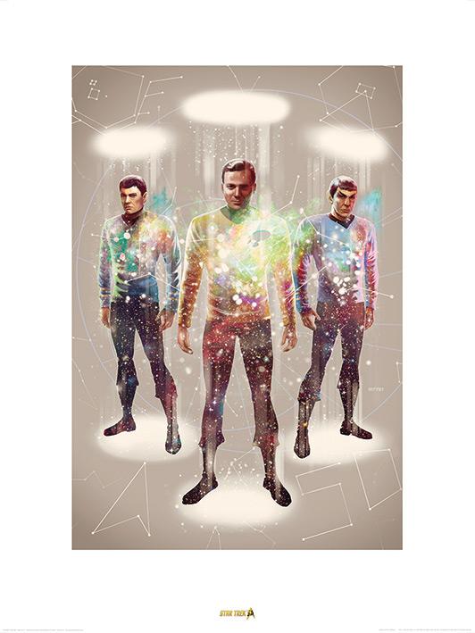 Star Trek (Beam Me Up) 50th Anniversary Art Print