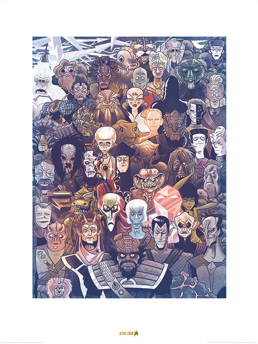 Star Trek (Adversaries) 50th Anniversary Art Print