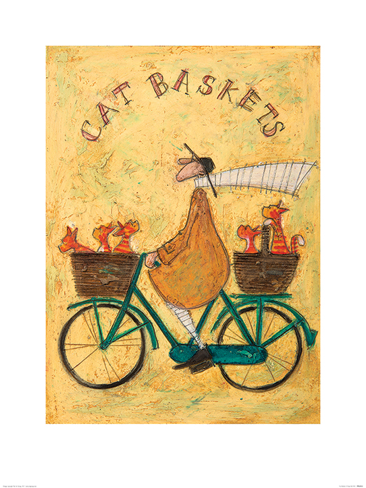 Sam Toft (Cat Baskets) Art Print