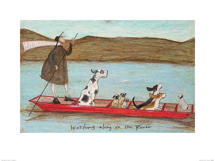 Sam Toft (Woofing along on the River) Art Print
