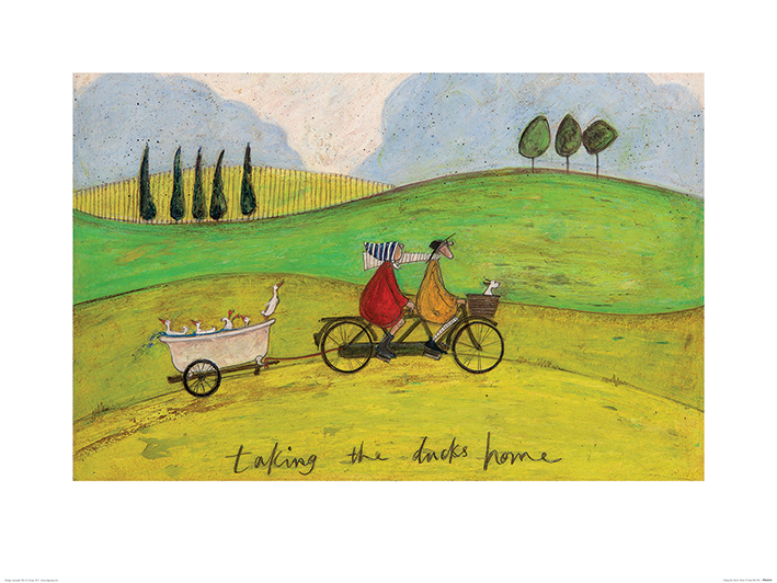 Sam Toft (Taking the Ducks Home) Art Prints