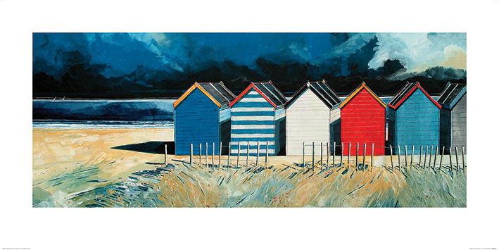 Stuart Roy (Beach Huts and Beach II) Art Print