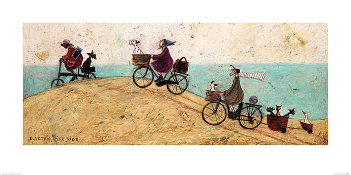 Sam Toft (Electric Bike Ride) Art Prints
