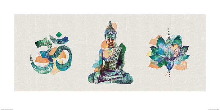Summer Thornton (Yoga Triptych) Art Prints