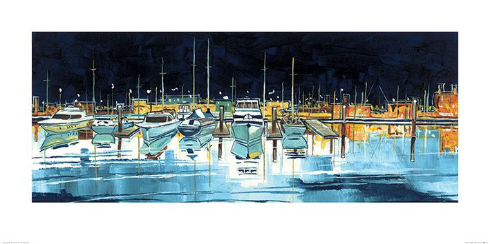 Stuart Roy (The Port at Night) Art Print