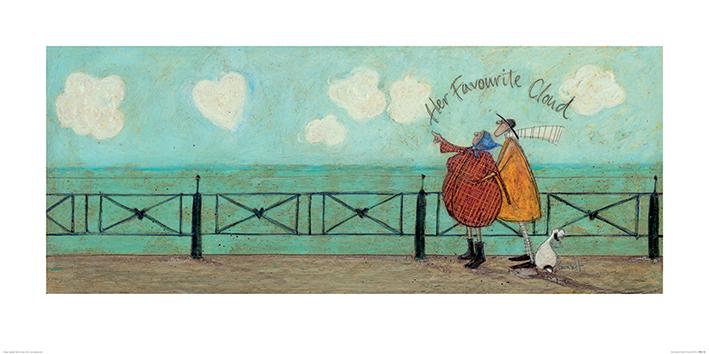 Sam Toft (Her Favourite Cloud II) Art Print