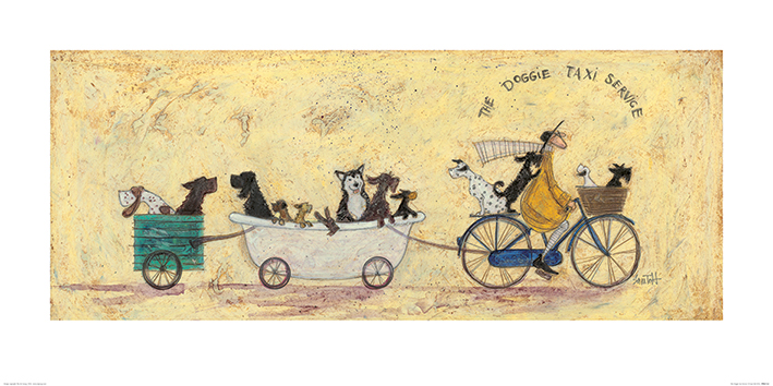 Sam Toft (The Doggie Taxi Service) Art Prints