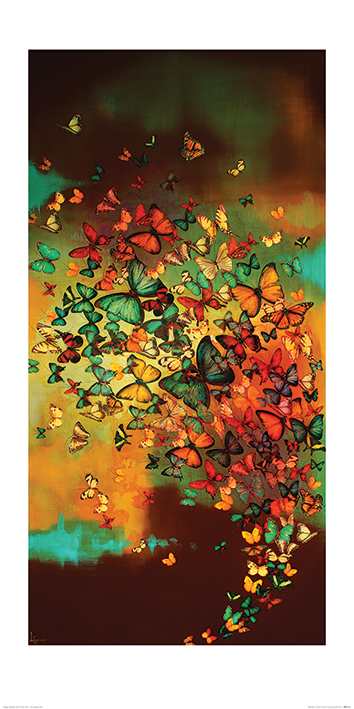 Lily Greenwood (Butterflies on Burnt Umber) Art Print