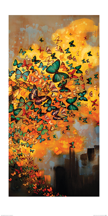 Lily Greenwood (Butterflies on Ochres & Greys) Art Prints