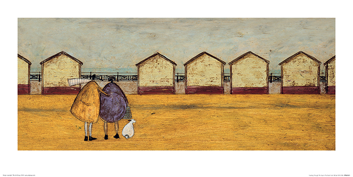 Sam Toft (Looking Through The Gap In The Beach Huts) Art Prints