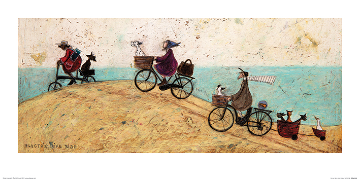 Sam Toft (Electric Bike Ride) Art Print