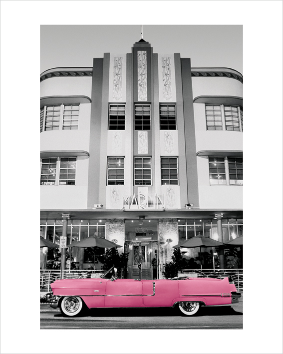 Pink Cadillac Art Print