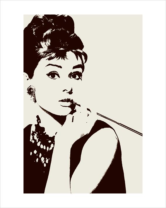 Audrey Hepburn (Cigarello) Art Prints