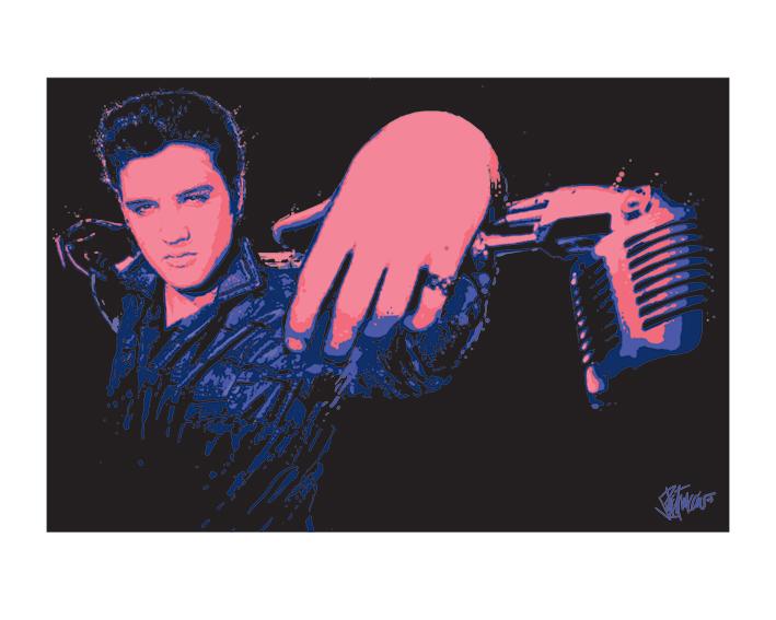 Elvis Presley (Microphone) Art Print