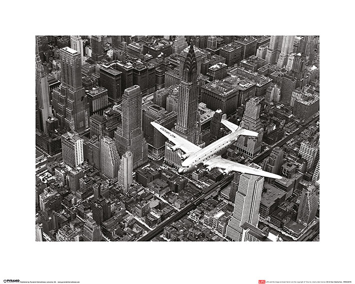 Time Life (DC-4 Over Manhattan) Art Prints