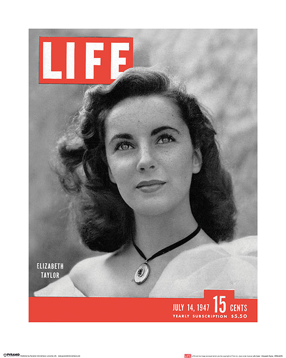Time Life (Life Cover - Elizabeth Taylor) Art Prints