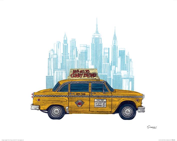 Barry Goodman (Taxi New York) Art Prints