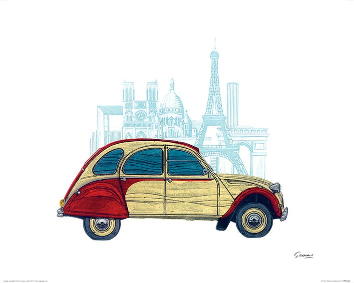Barry Goodman (CV Paris) Art Print