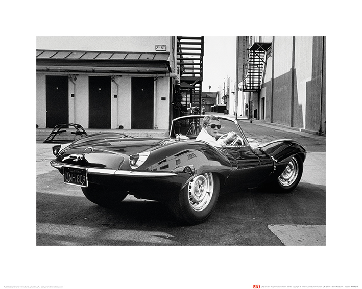 Time Life (Steve McQueen - Jaguar) Art Prints