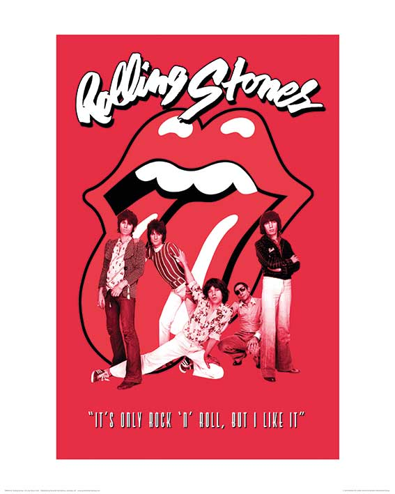 Rolling Stones (It's only rock n roll) Art Print