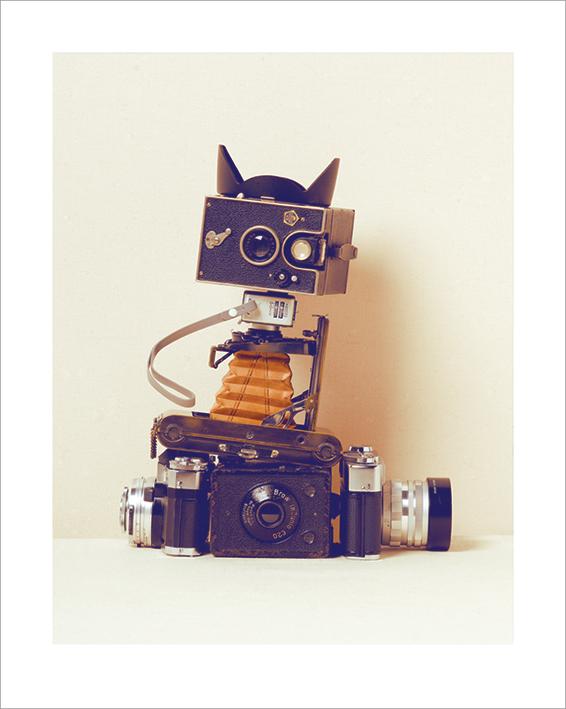 Ian Winstanley (Robot Cat) Art Print