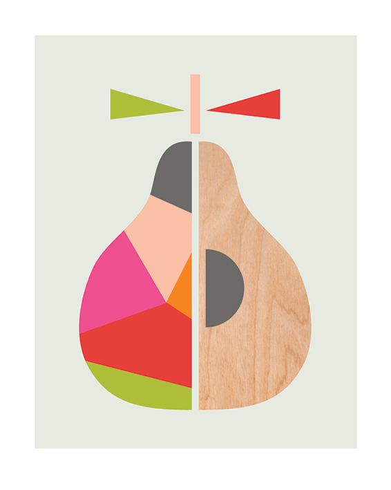 Little Design Haus (Geometric Pear) Mounted Print | The Art Group