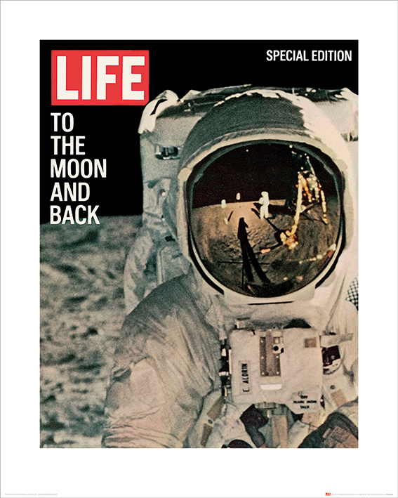 Time Life (Life Cover - To the Moon and Back) Art Prints