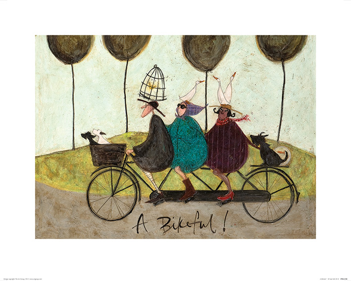 Sam Toft (A Bikeful!) Art Print