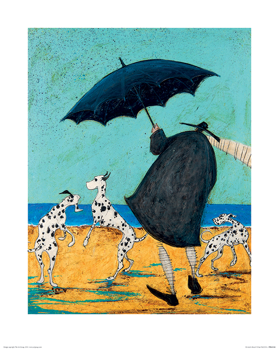 Sam Toft (On Jack's Beach) Art Print