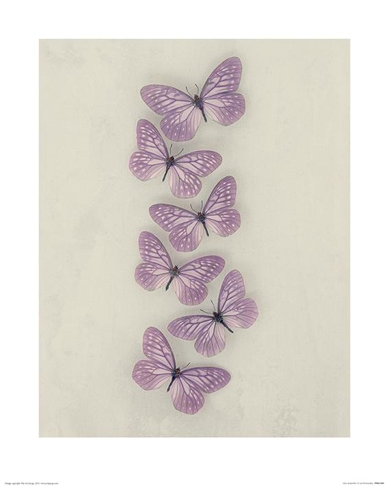Ian Winstanley (Lilac Butterflies) Art Print