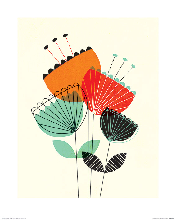 Nicola Evans (Scandi Flowers I) Art Prints
