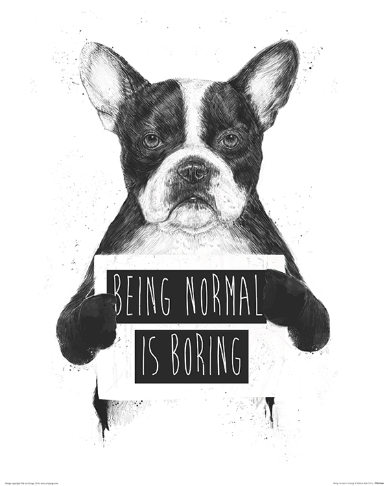 Balazs Solti (Being Normal is Boring) Art Print