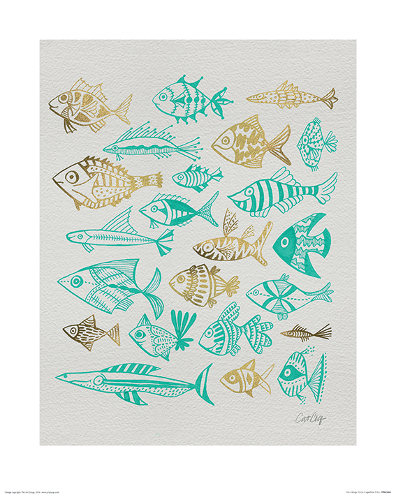 Cat Coquillette (Fish Inklings) Art Print