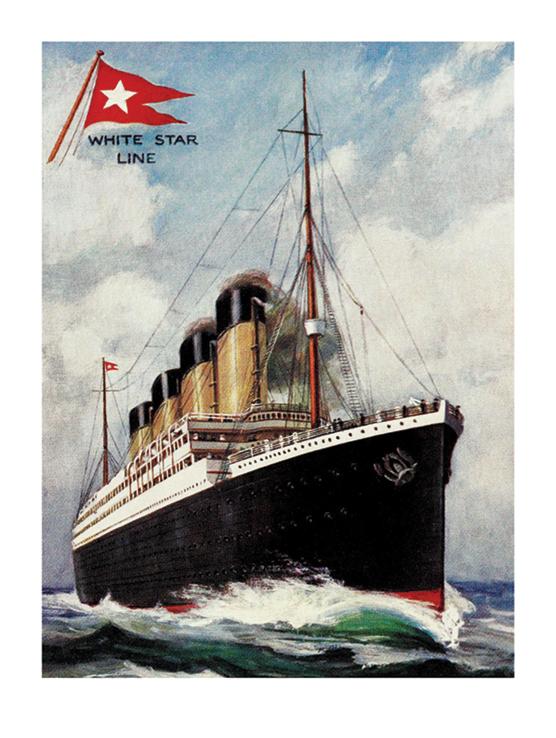 Titanic (Portrait) Art Print