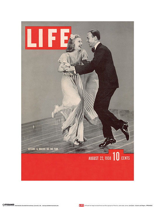 Time Life (Life Cover - Astaire & Rogers) Art Prints