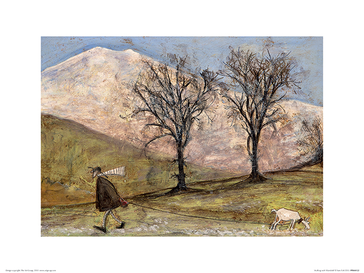 Sam Toft (Walking with Mansfield) Art Print