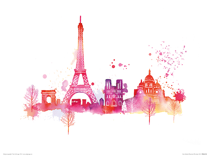 Summer Thornton (Paris Skyline) Art Prints