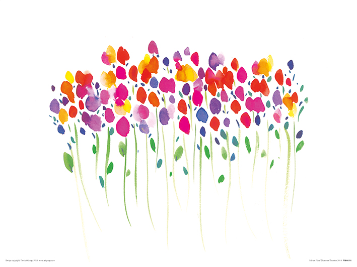 Summer Thornton (Vibrant Floral) Art Prints
