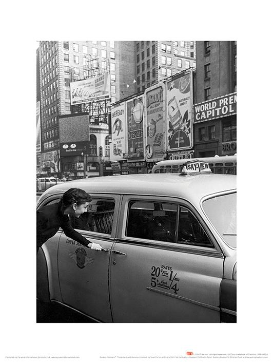 Time Life (Audrey Hepburn - Taxi) Art Prints