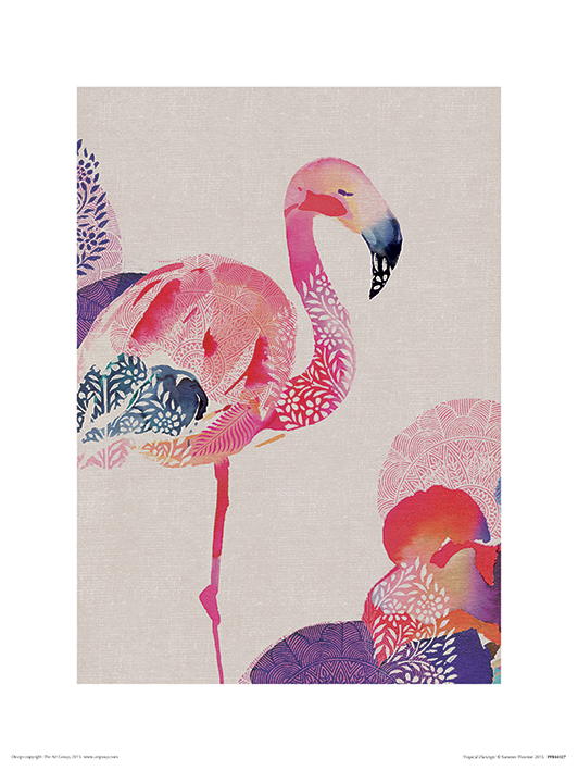 Summer Thornton (Tropical Flamingo) Art Prints
